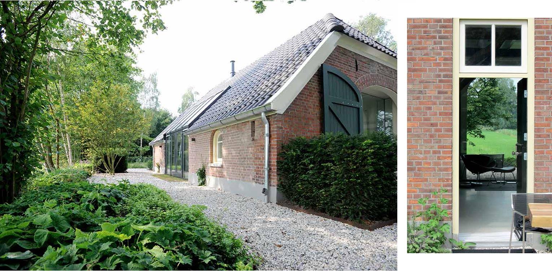 beplanting boerderijtuin Barchem. De sfeer en beplanting sluiten aan bij het landelijke karakter van de plek en dragen er toe bij dat het nu één harmonieus geheel is.