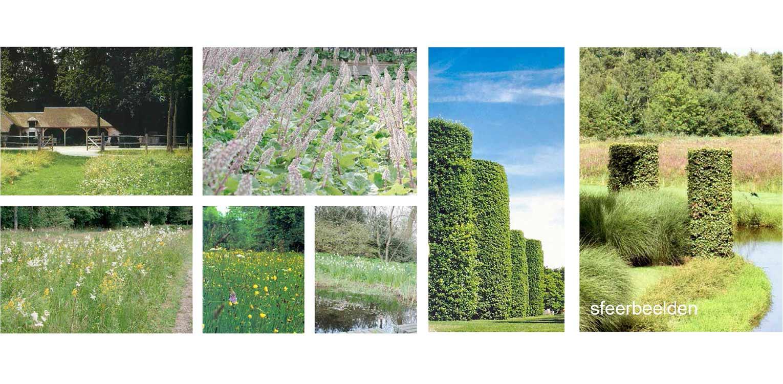sfeerbeelden boerderijtuin Radewijk. In het tuinplan staat de natuurlijke uitstraling centraal en sluit het harmonieus op zijn (bebouwde) omgeving aan Denkers in Tuinen.