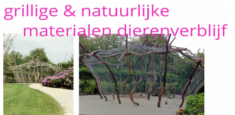 dierenverblijf zorgtuin Hanepraij Gouda. Een bij het gebouw passend tuinontwerp, dat karakter aan het geheel geeft voor de specifieke doelgroep Denkers in Tuinen