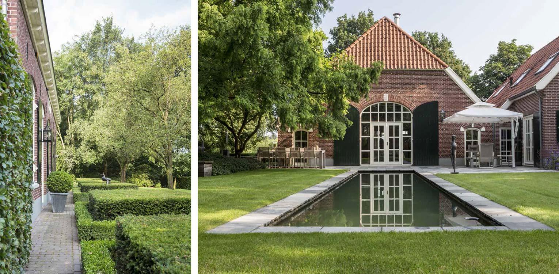 naast ruimte scheppen voor de waterspiegel vroeg boerderijtuin Eibergen m.n. om nieuwe structuur door het opstellen van een totaalplan met veel nieuwe zichtlijnen en verbindingen - Denkers in Tuinen.