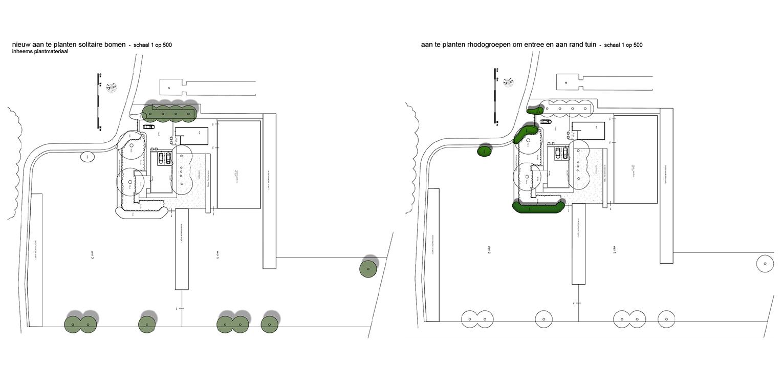 bomen en rhodos landschappelijke tuin Heerde waar ontwerp bepaald is door de openheid van het open ontginningslandschap met zijn noord-zuid relaties - Denkers in Tuinen