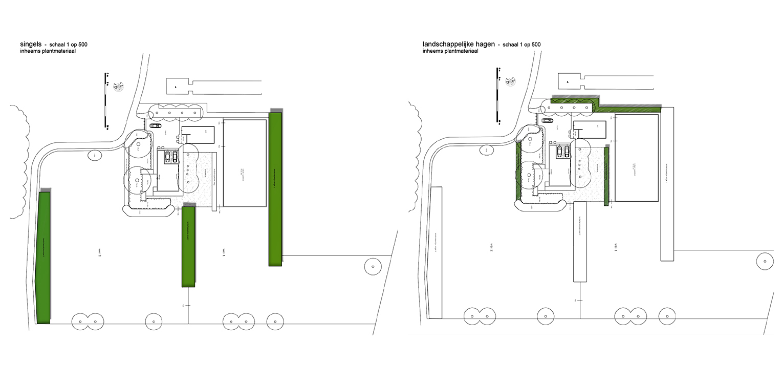 schetsopzet singels en hagen landschappelijke tuin Heerde waar ontwerp bepaald is door de openheid van het open ontginningslandschap met zijn noord-zuid relaties - Denkers in Tuinen