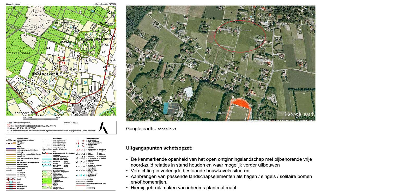 landschappelijke tuin Heerde op Google Earth waar ontwerp bepaald is door de openheid van het open ontginningslandschap met zijn noord-zuid relaties - Denkers in Tuinen