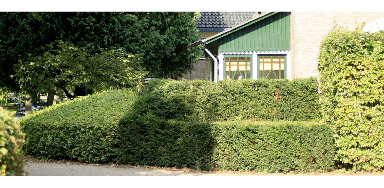 villatuin de Hermitage Apeldoorn. Met gelaagde taxus- en beukenhagen is een passend geheel gecreëerd dat recht doet aan de rijke geschiedenis van dit pand Denkers in Tuinen