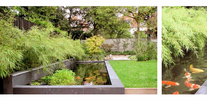 stadstuin leiden aan de rand van een voormalig park met kleurrijke borders en waar de veranda als centrale ontmoetingsplek ontworpen is - denkers in tuinen