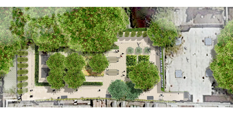 Keurtuin de vijf keizers amsterdam denkers in for Plattegrond tuin maken